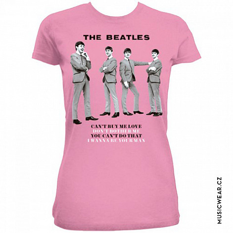 The Beatles tričko, You Can't Do That Pink, dámské