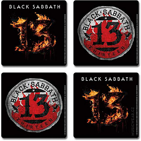 Black Sabbath set korkových podtácků 4ks, 13
