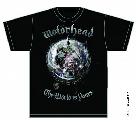 Motorhead tričko, The World is your Album, pánské