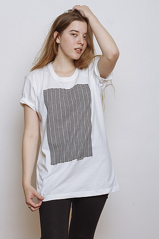 Lake Malawi T-Shirt, Little Waves White, unisex