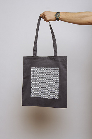 Lake Malawi Tote Bag, Little Waves (Dark Grey)