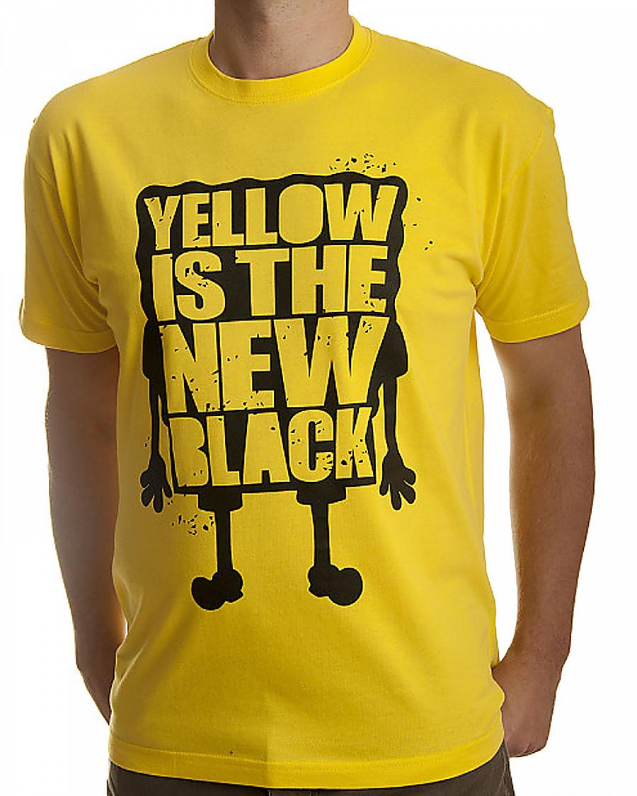 29603612bc5b0 SpongeBob Squarepants tričko, Yellow Is The New Black, pánské