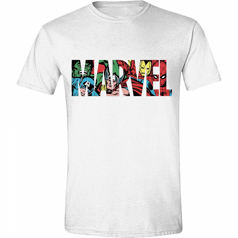 98f223e2a Marvel Comics tričko, Logo Characters, pánské | Musicwear - Trička ...