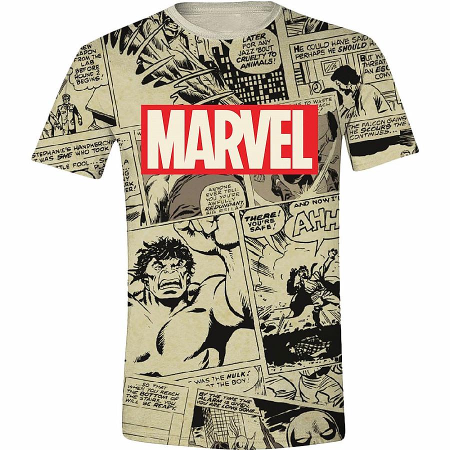 4d7b9a448 Marvel Comics tričko, Logo & Comic Panels, pánské | Musicwear ...