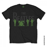 The Beatles tričko, Saville Row Line Up with Green Silhouettes, pánské