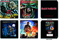 Iron Maiden set korkových podtácků 4ks, Mixed designs
