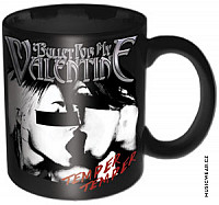 Bullet For My Valentine keramický hrnek 250ml, Skull Red Eyes Black