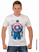 Captain America tričko, Shield on Back White, pánské