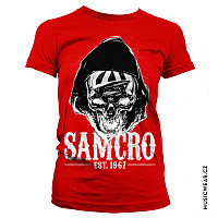 Sons of Anarchy tričko,SAMCRO Dark Reaper Girly Red, dámské