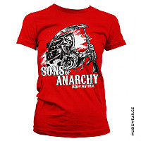 Sons of Anarchy tričko, AK Reaper Girly Red, dámské