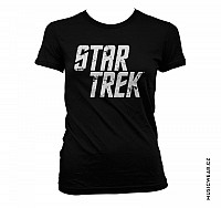 Star Trek tričko, Star Trek Distressed Logo Girly, dámské