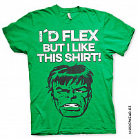The Hulk tričko, I´d Flex But I Like This Shirt, pánské