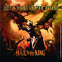 Avenged Sevenfold korkový podtácek 10x10 cm, Hail to the King