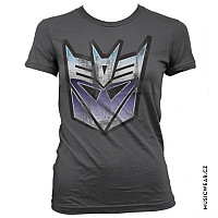 Transformers tričko, Distressed Decepticon Shield Girly, dámské