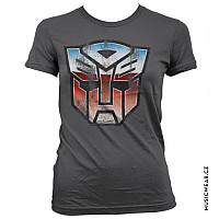 Transformers tričko, Distressed Autobot Shield Girly, dámské