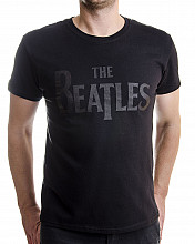The Beatles tričko, Drop T Logo Black, pánské