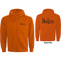 The Beatles mikina, Drop T Logo With Back Print Orange, pánská