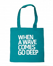 Lake Malawi Tote Bag, When A Wave (Turquoise)