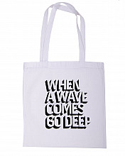 Lake Malawi Tote Bag, When A Wave (White)