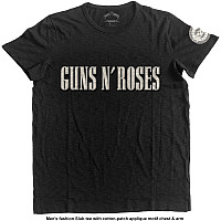 Guns N Roses tričko, Logo & Bullet Circle with Applique Motifs, pánské
