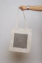 Lake Malawi Tote Bag, Little Waves (Ecru)