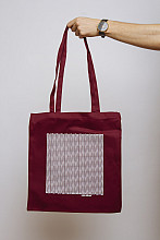 Lake Malawi Tote Bag, Little Waves (Burgundy)
