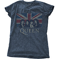 Queen tričko, Vintage Union Jack Snow Wash Denim, dámské