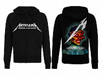 Metallica mikina, Hardwired Album Cover Black Zip, pánská