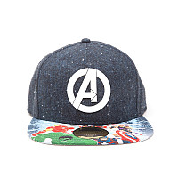 Marvel kšiltovka, Avengers Logo With Comic, unisex