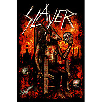 Slayer textilní banner 68cm x 106cm, Devil On Throne